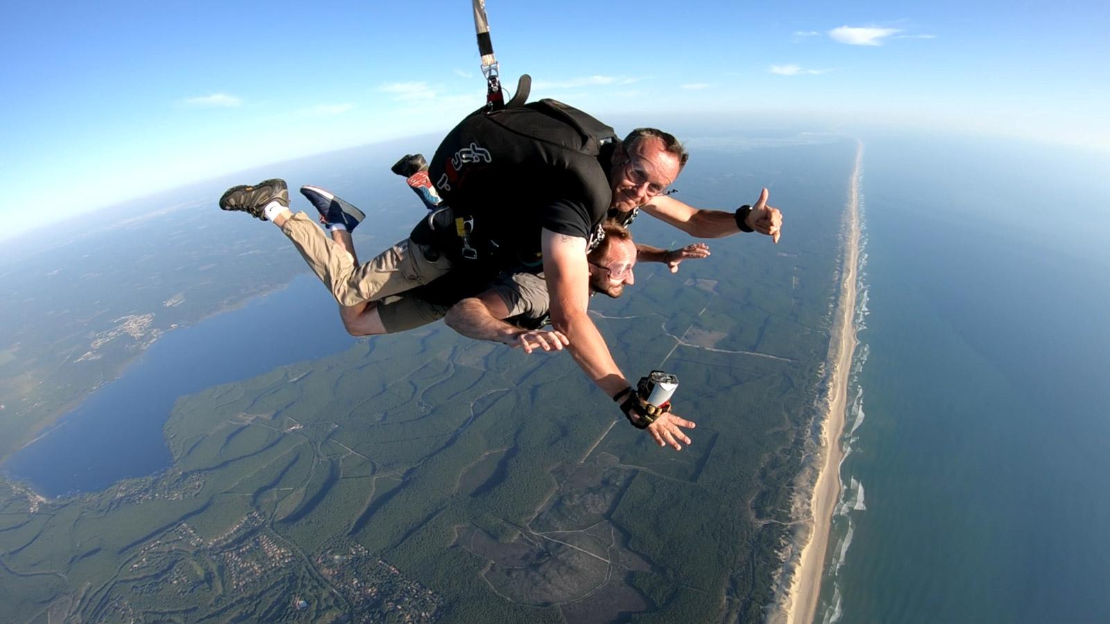 parachutisme lacanau